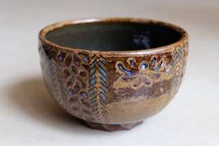 Ceramic Bowl - handbuilt and carved design