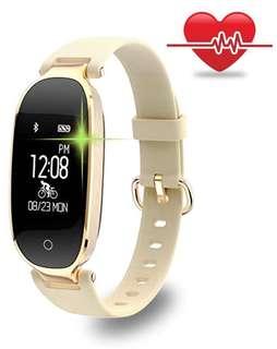 (155) Fitness Tracker, Women Sport Tracker Smart Watch Band Bracelet, Heart Rate Monitor Smart Bracelet,Wristband Watch with Health Sleep Activity Tracker Pedometer for Smart Phone