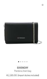 Authentic Givenchy Pandora Chain Wallet