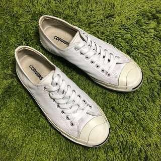 🚚 【Converse】白色皮質低筒帆布鞋