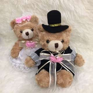Wedding teddy bear couple