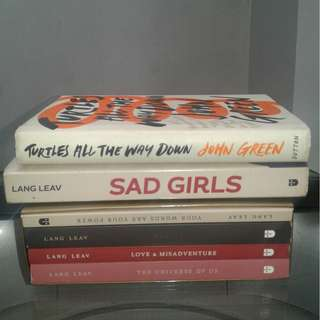 Lang Leav Anthology of Love - 1,400 Sad Girls - 500 Turtles all the way down - 400
