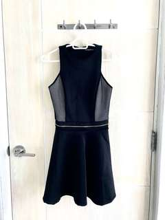 Black Circle Cocktail Dress- Zalora