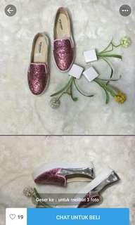 sepatu wanita/sepatu gliter