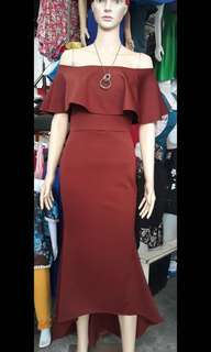 FOR RENT: Apartment 8 inspired Formal Dress (Maroon/ Wine Red)