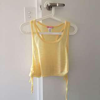 Supre light yellow singlet