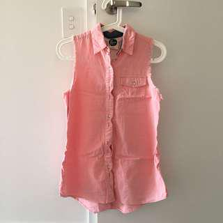 All about eve pink denim top