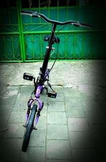 Sepeda lipat LAUX ukuran ban 16 inci