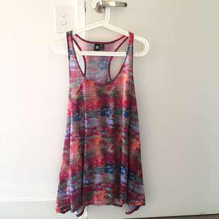 Insight red print singlet dress