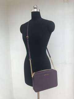Michael Kors purple bag 紫色側背皮包. Brand new