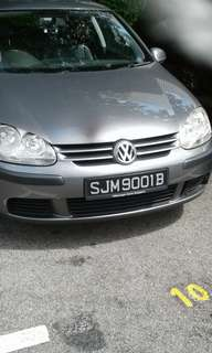 car for rent (volkswagen golf or swift)