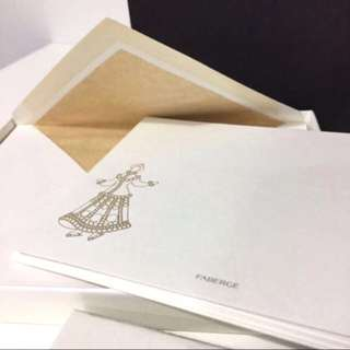 🚚 Exquisite Fabergé Note Cards, Box Set of 10 - Thick and luxurious paper - Matching envelopes - Gold detailing