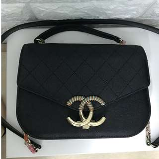 Chanel flap bag with handle