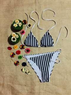Zebra Striped Bikini Set
