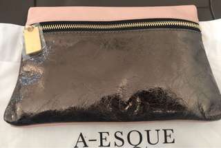 Brand new A-esque POCKET DAILY NUDE.PEWTER AUD $200