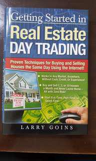 Getting Started in Real Estate Day Trading by Larry Goins (hardcover)