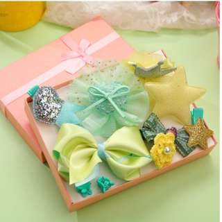 10 pieces satin hair clip ( suitable for newborn with fine hair)