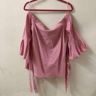 Off Shoulder Top / pink