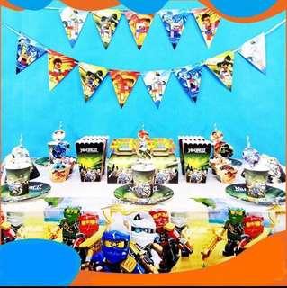 Lego Ninjago party supplies - Ninjago Birthday Banner / party deco