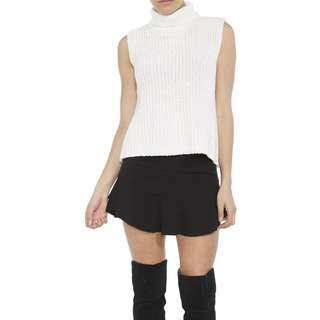 BARDOT Juno Knit Top Roll Neck Sleeveless Knitted Turtleneck High Neck