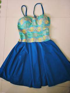 Dress With Push up Underwire Cap