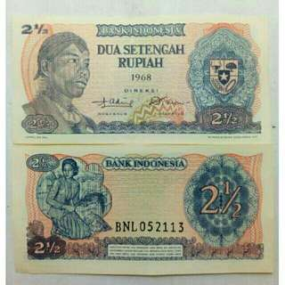 Uang lama /Uang kuno (2 1/2 Seri Jendral soedirman)thn 1968
