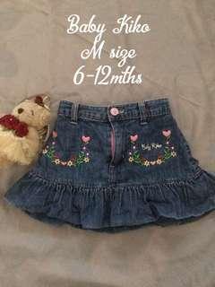 Baby Girl Denim Like Skirt