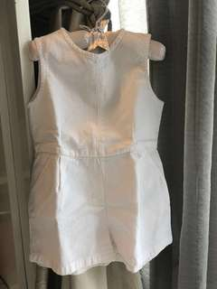 Playsuit - shorts overall white