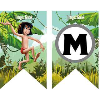 🚚 Bunting Banner - Jungle Book