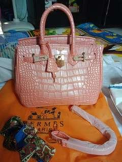 Handbag hermes croco besar
