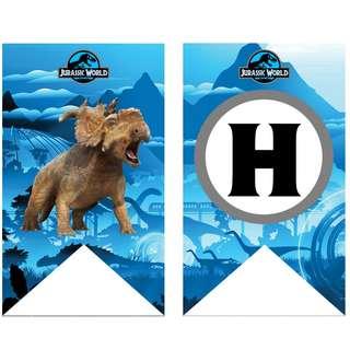 🚚 Bunting Banner - Jurassic World