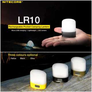 (In-stock) Nitecore LR10 250 Lumens Rechargeable Camping Lantern - Support USB Charging