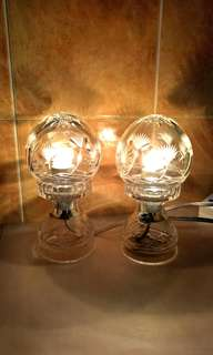 A Pair of Bohemia Crystal Lamp ( Made In Czech Republic )