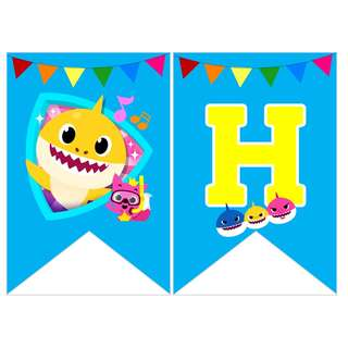 🚚 Bunting Banner - Baby Shark