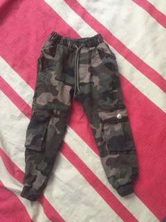 kids jogger pants army