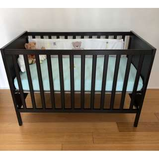 Baby Cot Sundvik Black Color