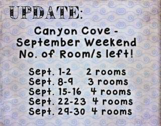 canyon cove - september weekend