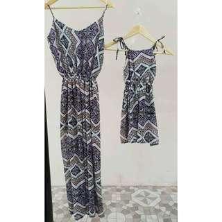 Dress mom & daughter maxi terno