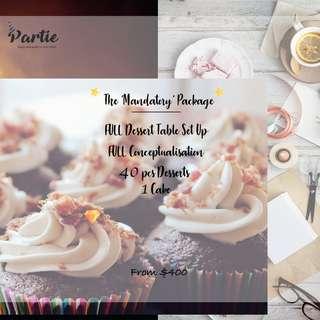 🚚 Mandatory Dessert Table