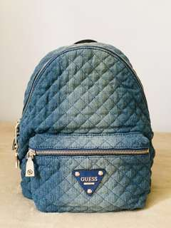 Guess - Rare and Hard To Find - Quilted Denim Backpack