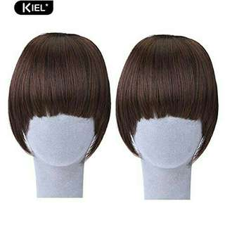 Girl's Pretty Clip On Bang Wigs Faux Straight Fringe Hair Extension Decor