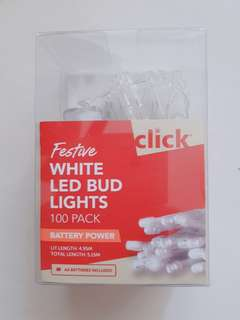 Festive White LED Bud Lights Fairy Lights