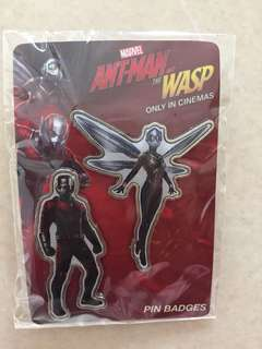 Marvel 2in1 Pin Badge - Ant-Man & Wasp