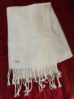 Winter time white scarf