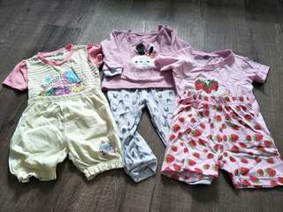 3sets baby girl clothes