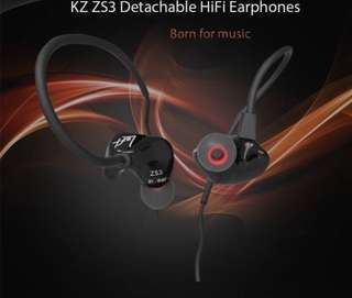 KZ ZS3 WITH MIC EARBUD EARPHONE WIRED