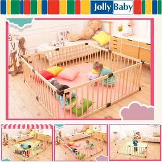 Wooden Safety Playpen 儿童游戏木栅栏