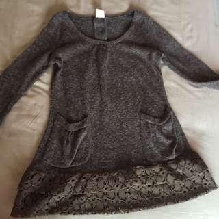 Sweater Ruffle Brown
