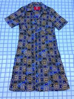 Dress Batik Hasenda Biru NEW