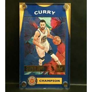 Stephen Curry Sports Card Back to Back Champion